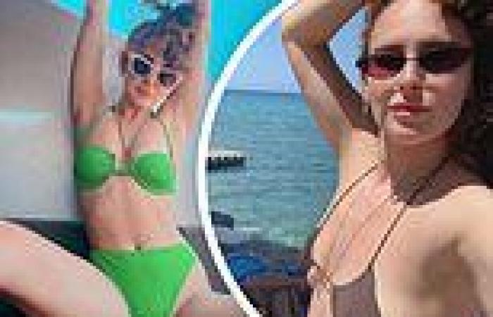 Rumer Willis showcases her toned form in retro-style green bikini during Greece ...