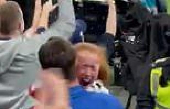 Adorable moment Mason Mount gives his England shirt to a young girl