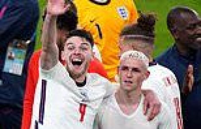 Declan Rice becomes an uncle during England's win against Denmark at Euro 2020
