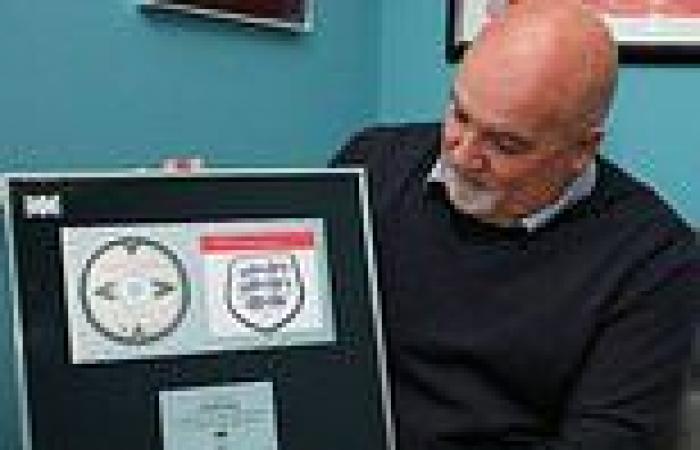 sport news Rare original Three Lions platinum disk to be sold off for charity