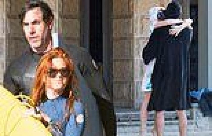 Sacha Baron Cohen and Isla Fisher enjoy a surf session at Palm Beach in Sydney