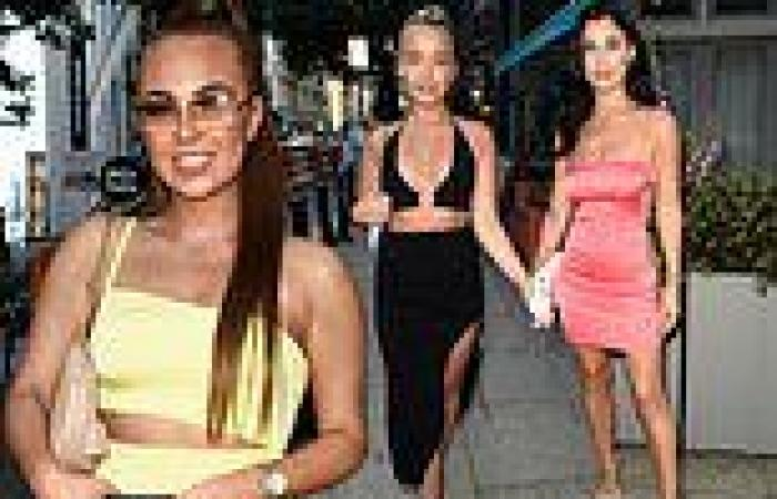 Demi Jones leads the reality stars at a fashion event in Manchester