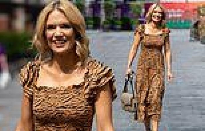 Charlotte Hawkins cuts a sophisticated figure as she dazzles in a tiger print ...