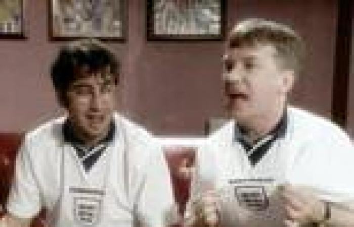 sport news UEFA stop Frank Skinner and David Baddiel from singing Three Lions at Wembley