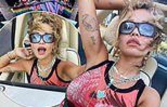 Rita Ora sizzles in latest Instagram snaps donning black sunglasses and graphic ...