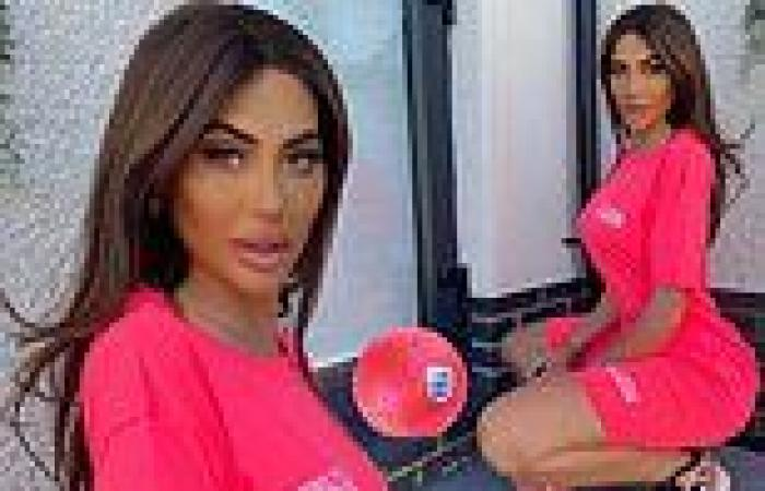 Chloe Ferry shocks fans as she poses next to a fake football in her latest ...