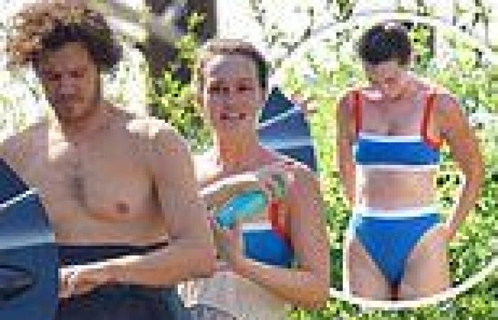 Leighton Meester shows off stunning bikini body after Malibu surfing session ...