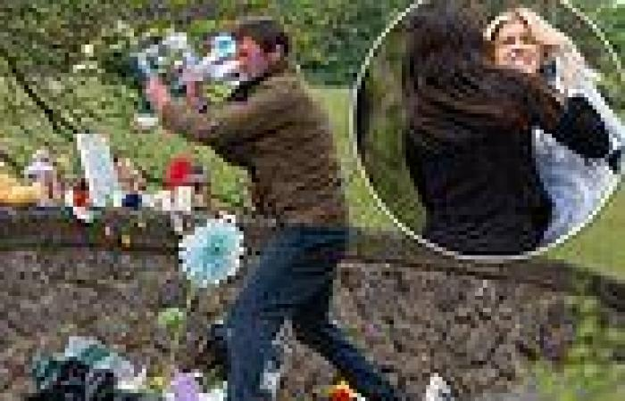 Emmerdale SPOILER: Grieving Liam trashes daughter Leanna's memorial in a fit of ...