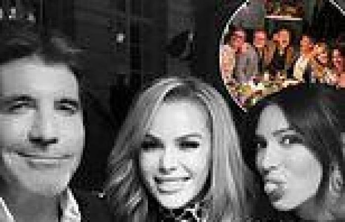 Amanda Holden joins Simon Cowell, David Walliams and Alan Carr on fun night out