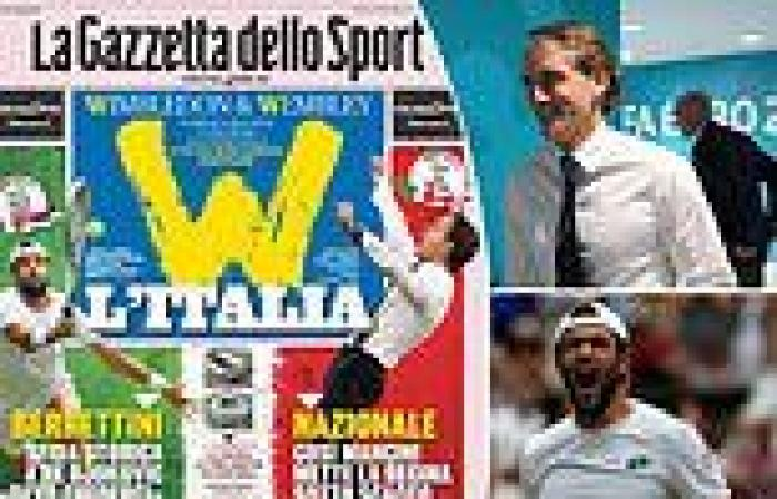 sport news Italian papers relishing the country's Super Sunday at Wimbledon and Euro 2020 ...