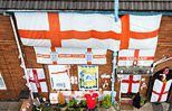 England fan admits 'I have gone a bit mad' with his St George-festooned house ...