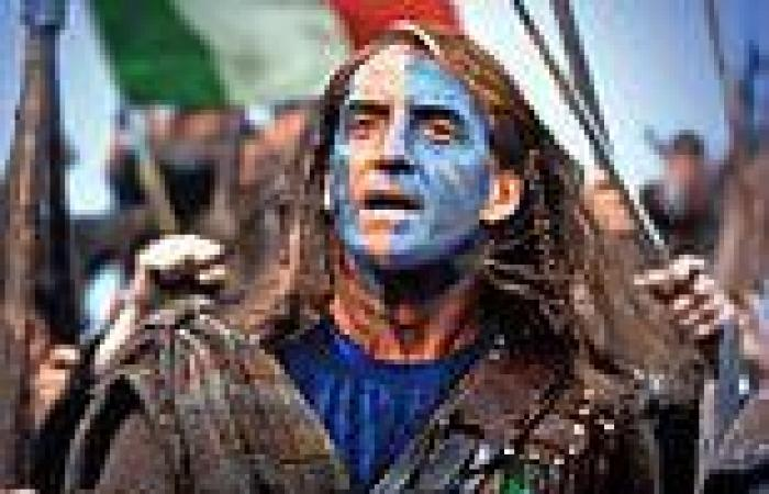 Scots picture Italy manager Roberto Mancini as BRAVEHEART