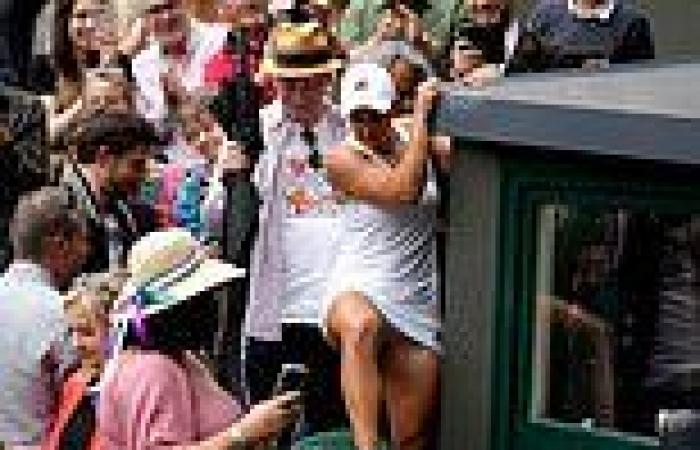 Ash Barty's players' box blooper at Wimbledon tennis final after taking out the ...