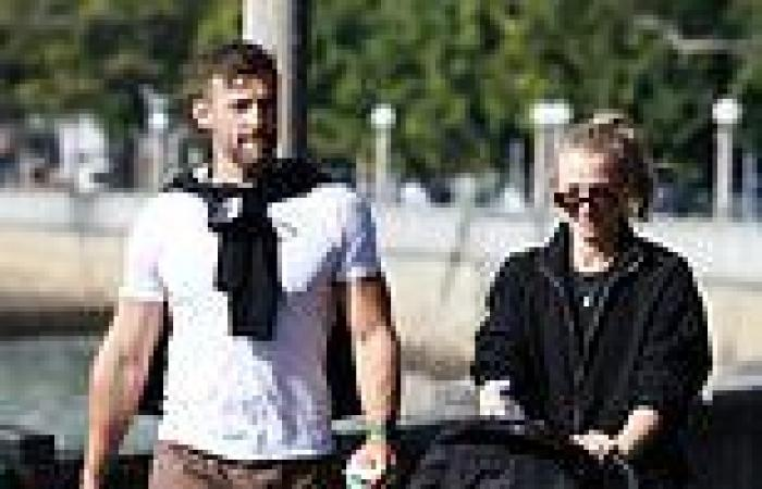 Bachelor couple Anna Heinrich and Tim Robards take baby daughter Elle for a ...