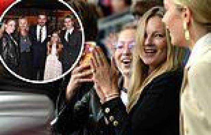 Kate Moss, 47, and lookalike daughter Lila, 18, watch the Euro 2020 Final at ...