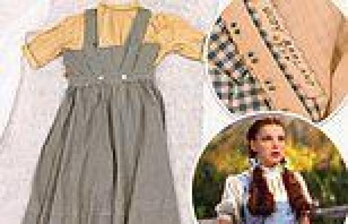 Missing gingham dress worn by Judy Garland in Wizard of Oz is discovered at ...