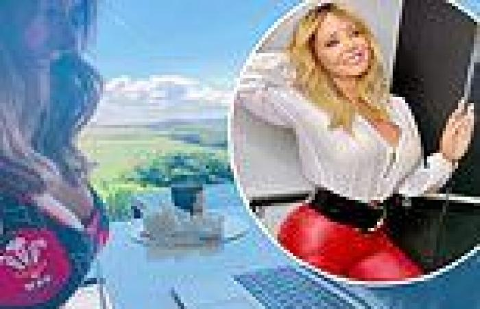 Carol Vorderman, 60, puts on a busty display and shows off her abs as she cools ...