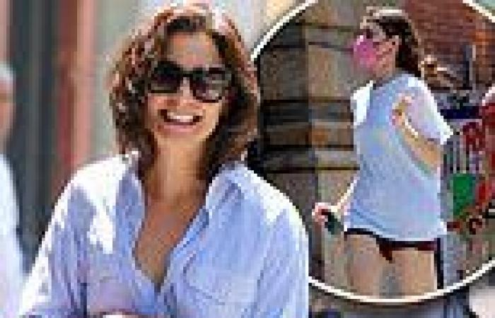 Katie Holmes smiles as she takes her 'sweetest daughter' Suri Cruise, 15, on a ...