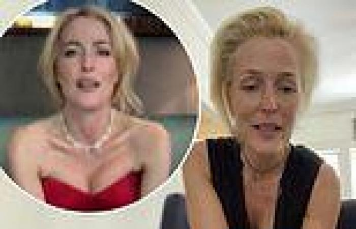 Gillian Anderson vows to never wear bra again after lockdown even if breasts ...