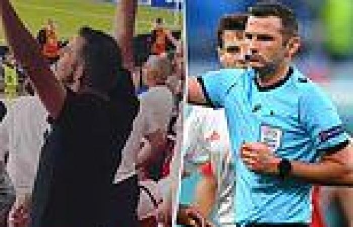 sport news Premier League ref Oliver belts out 'Freed from Desire' at Wembley as he makes ...