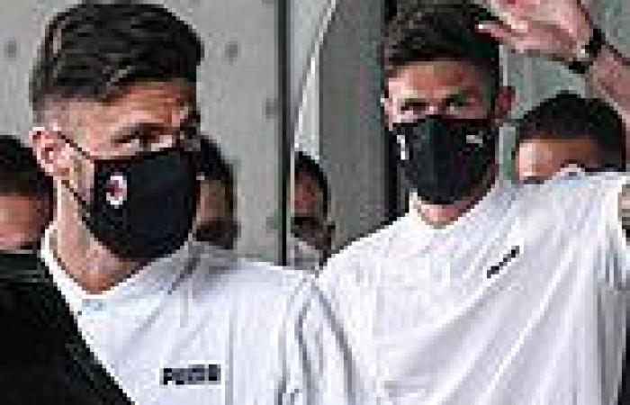 sport news Olivier Giroud touches down in Italy for AC Milan medical ahead of £1m move ...