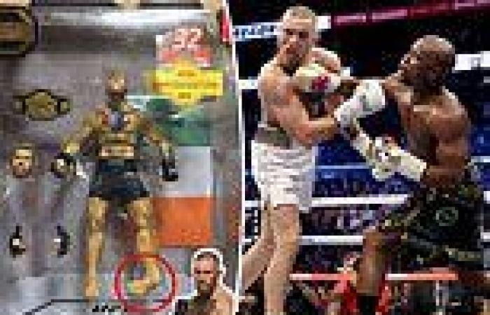sport news Floyd Mayweather continues brutal mocking of Conor McGregor with broken leg on ...