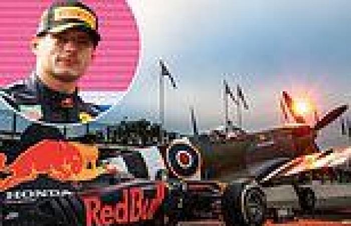 sport news F1 driver Max Verstappen shows he can outrun a 400mph SPITFIRE in a series of ...