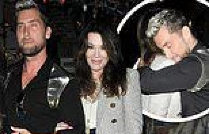 Lisa Vanderpump and longtime pal Lance Bass embrace following dinner at The Ivy ...