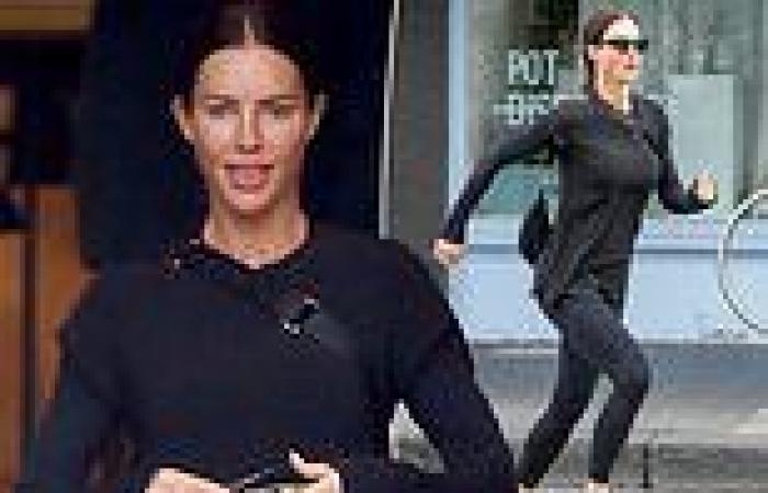 Nathan Buckley's girlfriend Alex Pike, 44, shows off her trim figure in ...