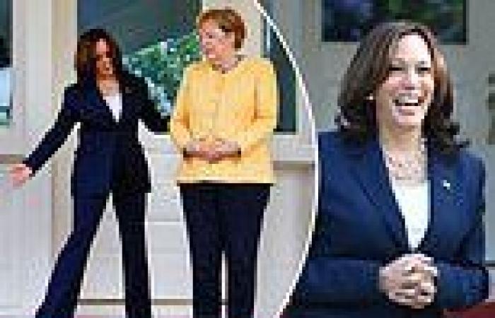 Kamala Harris hosts Angela Merkel for breakfast