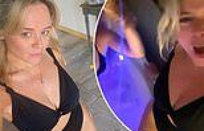 Emily Atack wows in revealing cut-out swimsuit before hitting the hot tub on ...