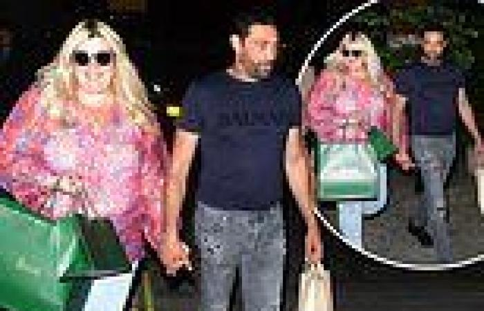 Gemma Collins looks glowing with beau Rami after having a pamper at Harrods