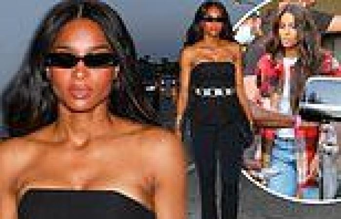 Ciara wows in all-black outfit while arriving at dinner in West Hollywood
