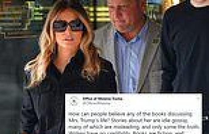 Melania Trump's office slams books about her as 'idle gossip'