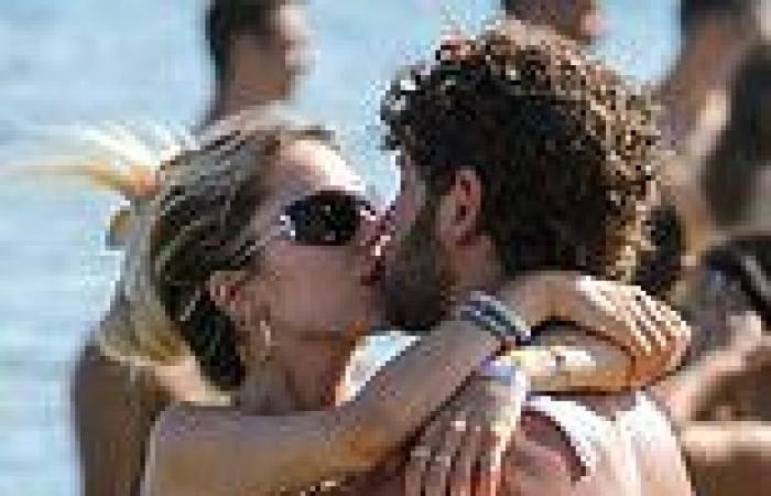 Delilah Hamlin packs on the PDA with shirtless beau Eyal Booker in Mykonos