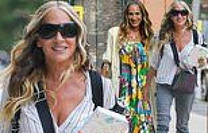 Sarah Jessica Parker is seen on the set of the upcoming Sex And The City reboot ...