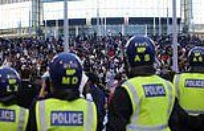 Two men, both 18, are arrested for helping ticketless fans storm Wembley before ...