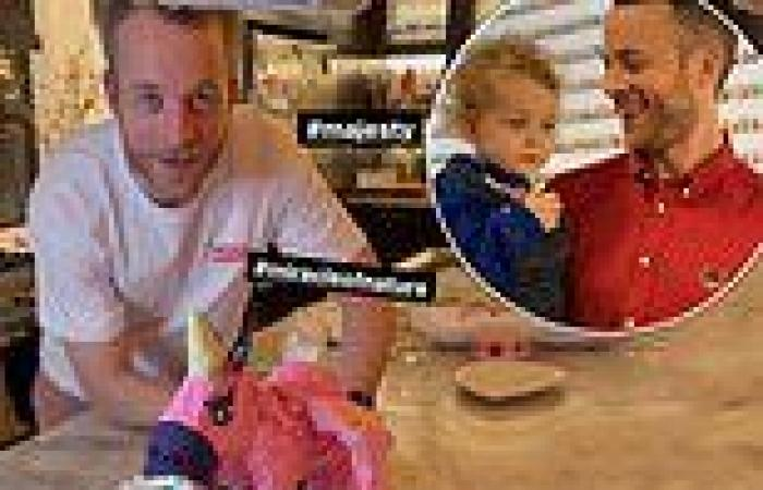 Hamish Blake creates a flying unicorn Lego cake for his daughter Rudy's fourth ...