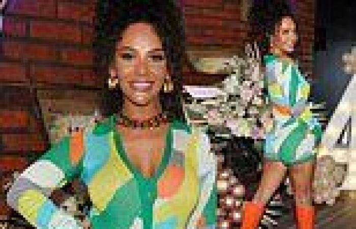 Chelsee Healey leaves little to the imagination as she celebrates her daughter ...