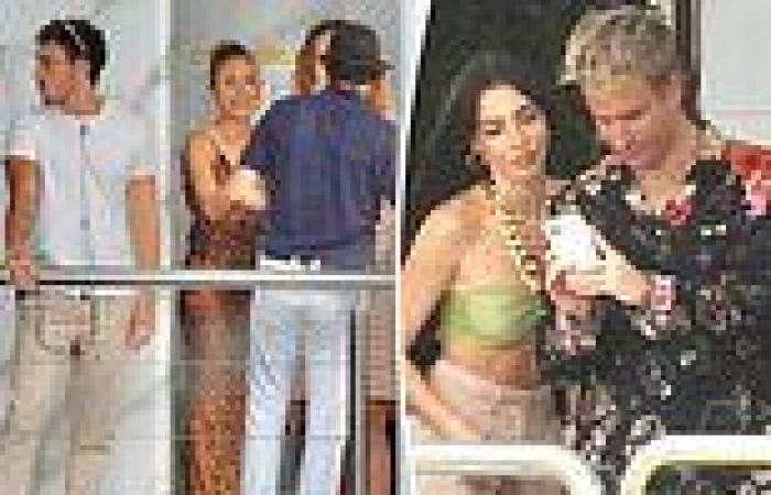 Byron Baes cast live it up as they film party scenes on board a luxurious yacht ...