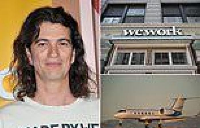 Cabin of ousted WeWork founder Adam Neumann's private jet marijuana forced to ...
