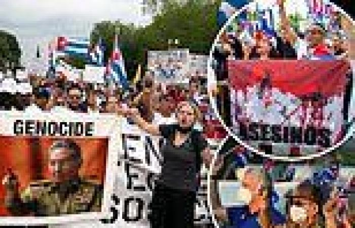 Cubans rally outside White House and in Miami to demand Biden offer a lifeline ...