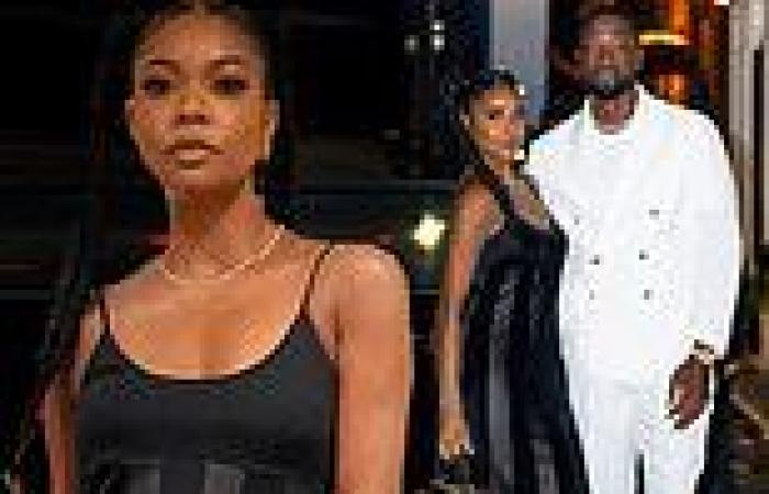Gabrielle Union dons $385 STAUD dress for NYC date night with her ...