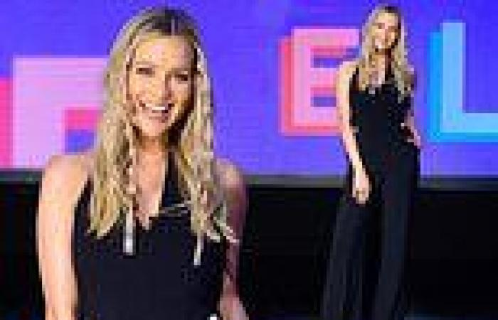 Love Island 2021: Laura Whitmore looks effortlessly chic in a black jumpsuit