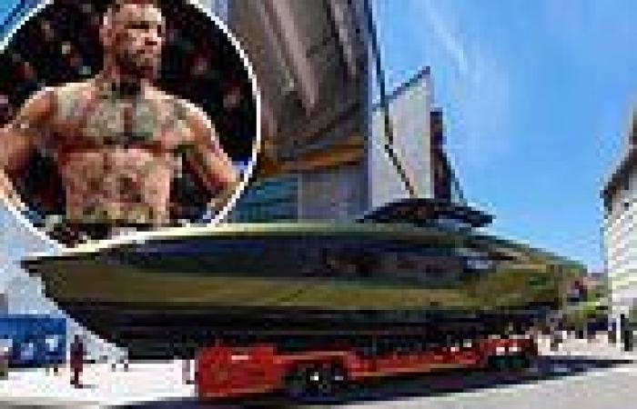 Conor McGregor reveals his £2.6 million Lamborghini yacht has been completed