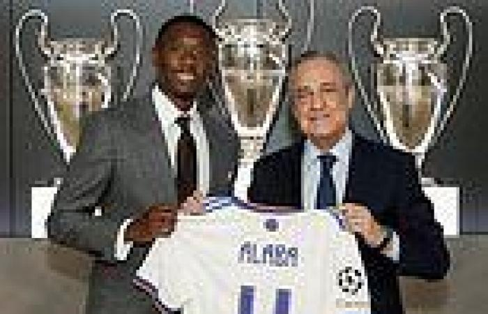 sport news David Alaba is FINALLY unveiled as a Real Madrid player and handed No.4 shirt