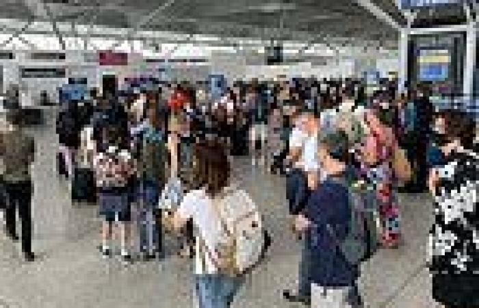 Thousands pack into departure lounges as they set off abroad on first weekend ...