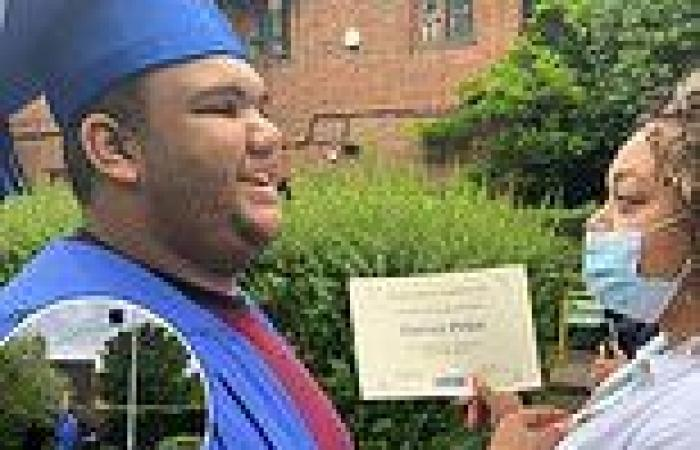 Proud mum Katie Price's shares sweet snap of her son Harvey, 19, graduating ...