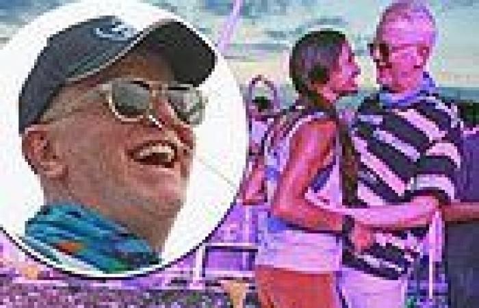 Chris Evans and wife Natasha Shishmanian put on a cosy display as they dance at ...