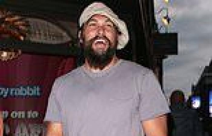 Jason Momoa enjoys a night out in London with pals as he prepares to film ...